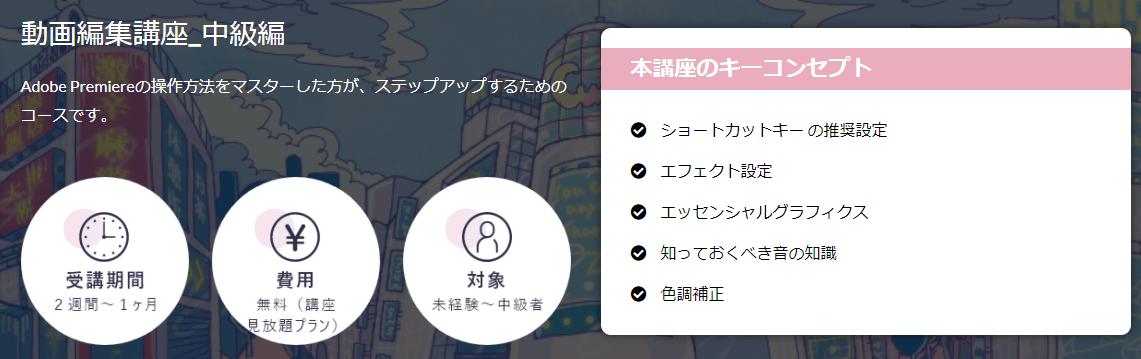 cucuaの動画編集(中級)コース